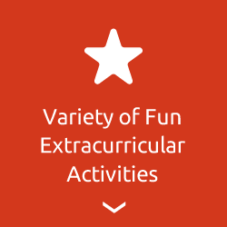 Variety of fun extracurricular activities